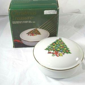 Vyg Jamestown China Christmas Treasure Dish